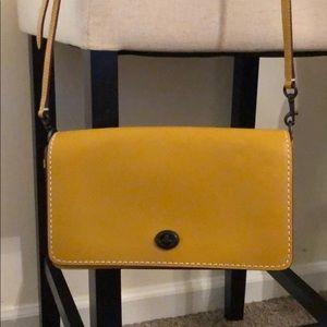Coach Dinky Crossbody Yellow Bag Purse